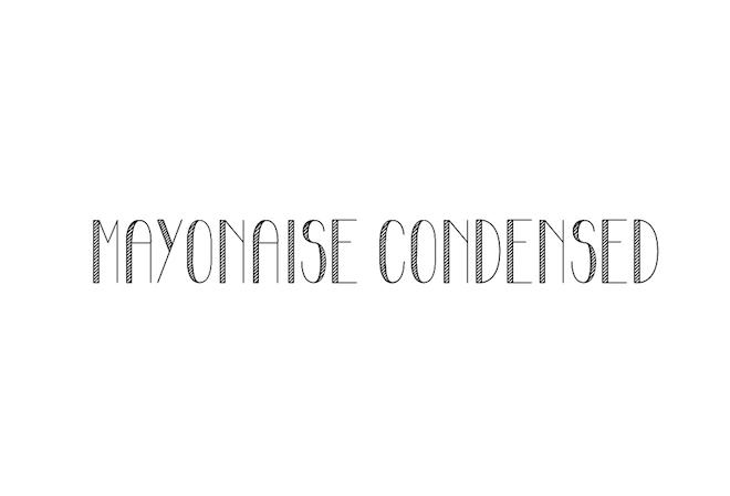 Mayonaise-Condensed