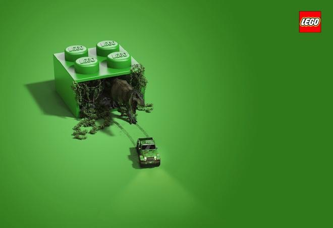 あなたの想像力を掻き立てる!LEGOのクリエイティブな広告
