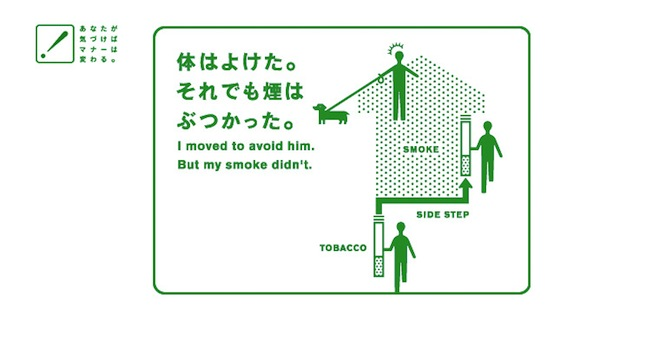 体はよけた。それでも煙はぶつかった。