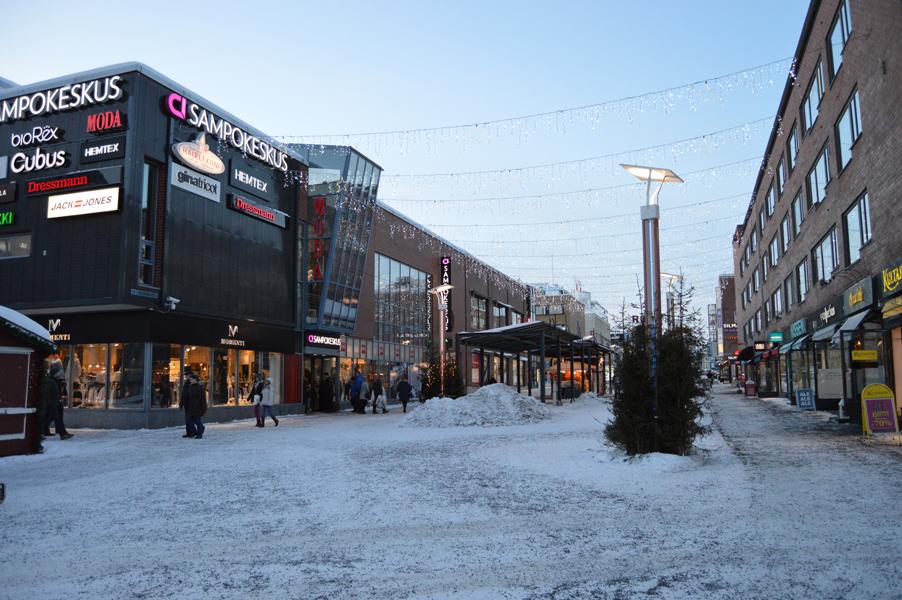 フィンランド・ロバニエミ市街地