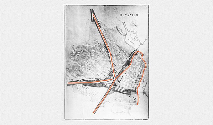ロバニエミ市の地図