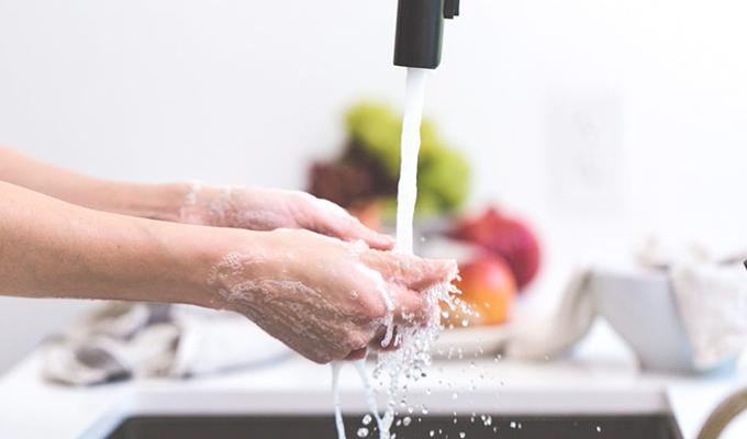 手を洗うよ